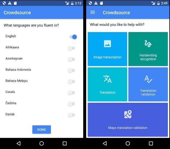 Google Crowdsource app