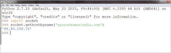 Figure 4 Fetching an IP address of a website from a URL