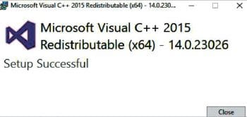 Figure 2 Visual C++ redistribution installation step 2