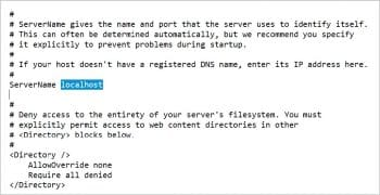 Figure 4 Change in ServerName