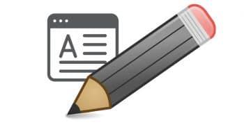 Text editing illustration