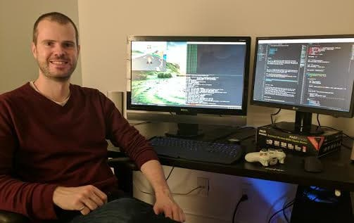 Self-driving TensorKart developer Kevin Hughes