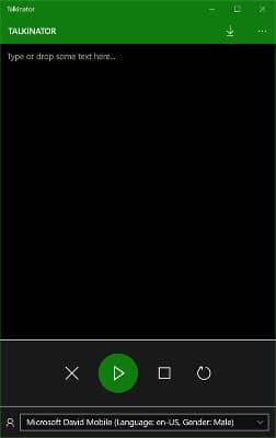 Talkinator speech recognition app