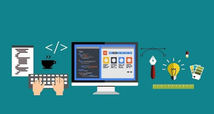 creating a website with coding and web designing