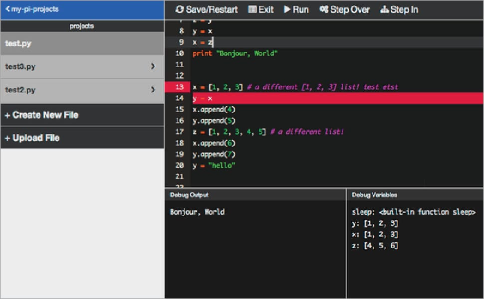 Adafruit WebIDE Raspberry Pi IDEs