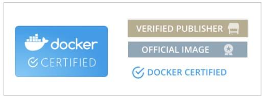 Docker hub official image tag formats