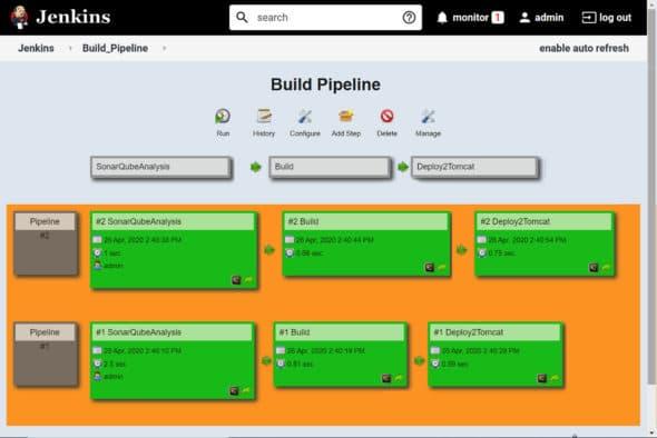 Build pipeline view