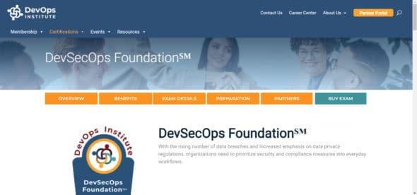DevOps Institute - DevSecOps Foundation certification