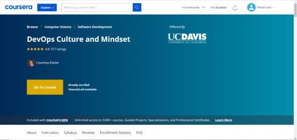 DevOps Culture and Mindset certification