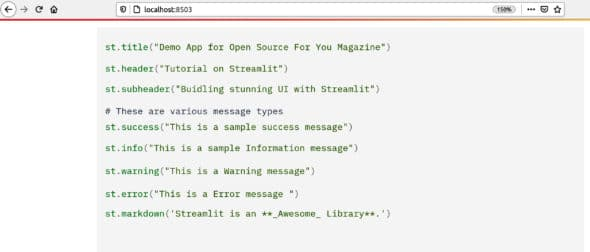 Displaying code with Streamlit
