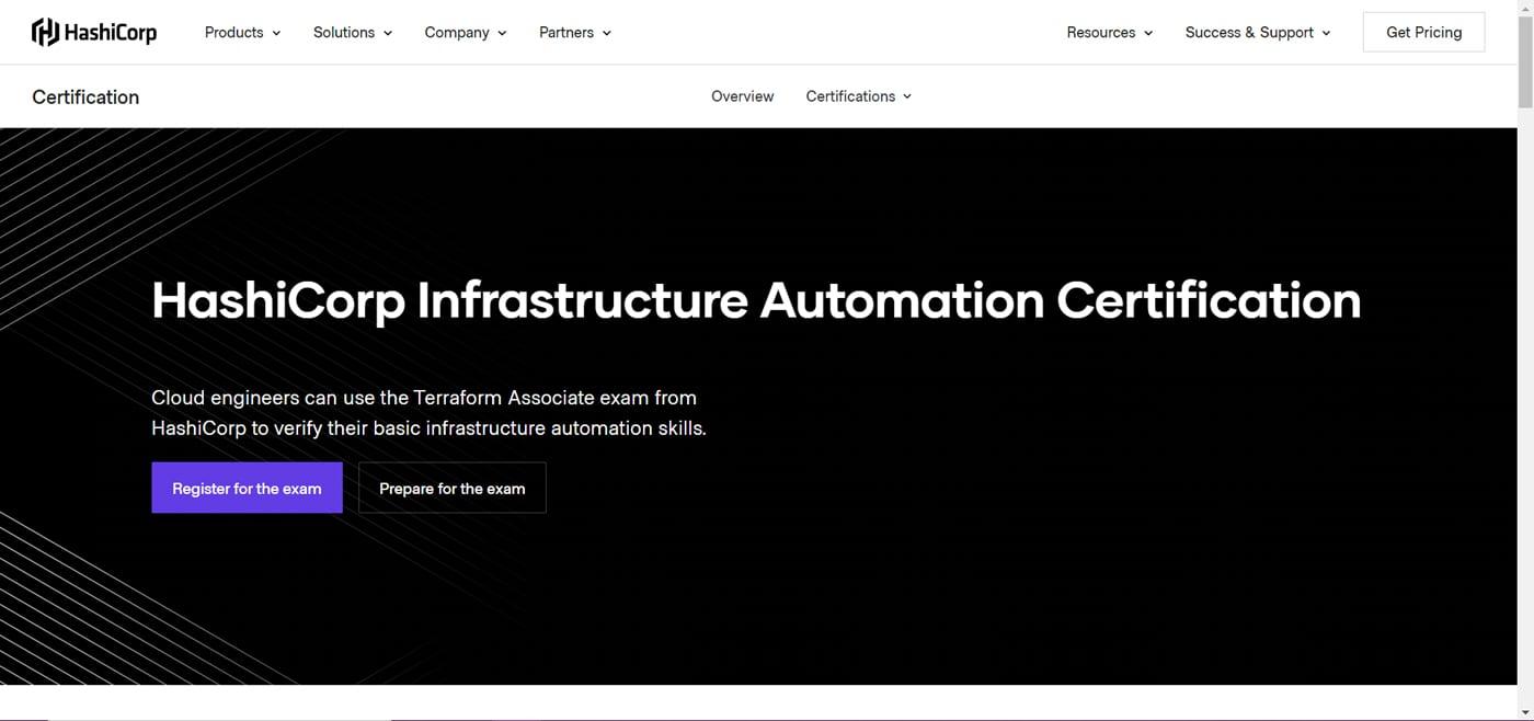 HashiCorp Infrastructure Automation Certification: Terraform Associate