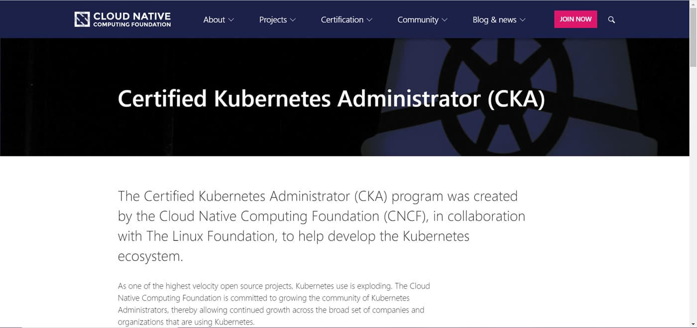 Certified Kubernetes Administrator (CKA)