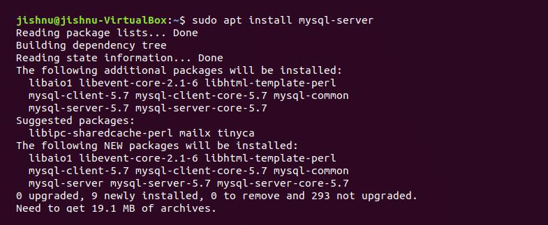 Installing mysql-server