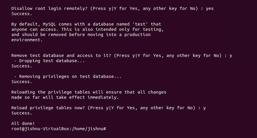 mysql secure installation -2