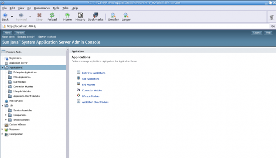 Figure 4: The application branch on the app server