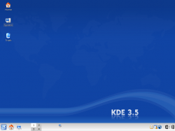 Figure 1: The default desktop