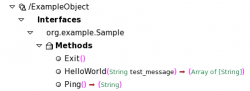 Figure 5: ExampleObject and available methods