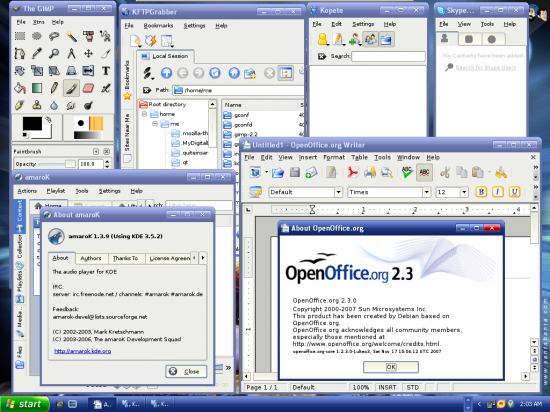 Figure 3: Run Linux software as if they are native Windows programs