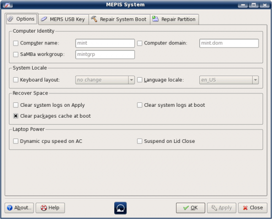 Figure 4: MEPIS Systems Assistant
