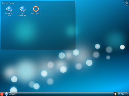 Figure 1: Default desktop
