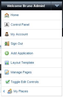Figure 2: Admin menu for adding portlet application
