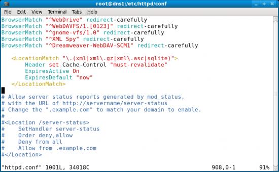 Figure 2: Configuring metadata handling in Apache