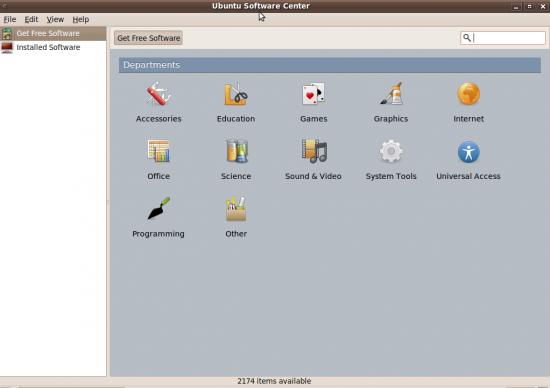 Figure 2: Ubuntu Software Centre—a one-stop app store
