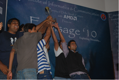 Team DCE delighted beyond words being the winners of ENVISAGE '10
